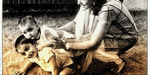 sanjay dutt with mom