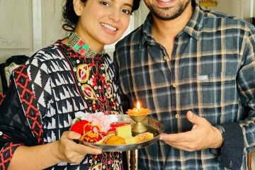 Kangana with Brother